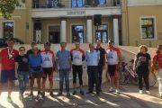Στιγμιότυπα από την υποδοχή των ποδηλατών «εθελοντικής αιμοδοσίας» στα Σέρβια