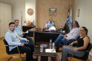 Τον Αστυνομικό Διευθυντή Κοζάνης κο Διόγκαρη Σπυρίδωνα επισκέφθηκε ο Δήμαρχος Σερβίων  Χρήστος Ελευθερίου την Τετάρτη 18 Σεπτεμβρίου 2019.