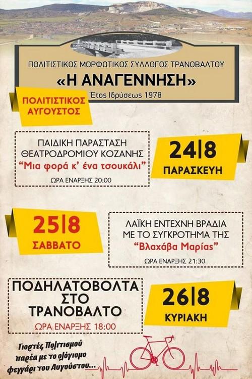 Τριήμερο εκδηλώσεων στο Τρανόβαλτο